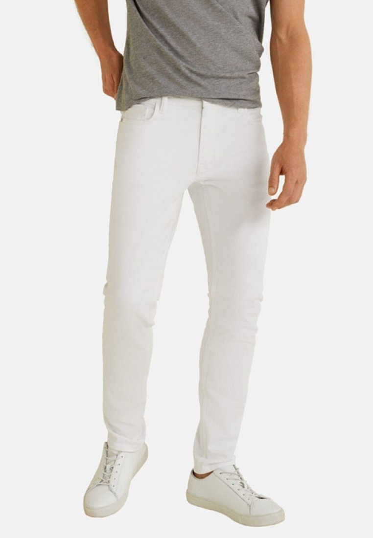 Mango - SLIM-FIT - Slim fit jeans - white