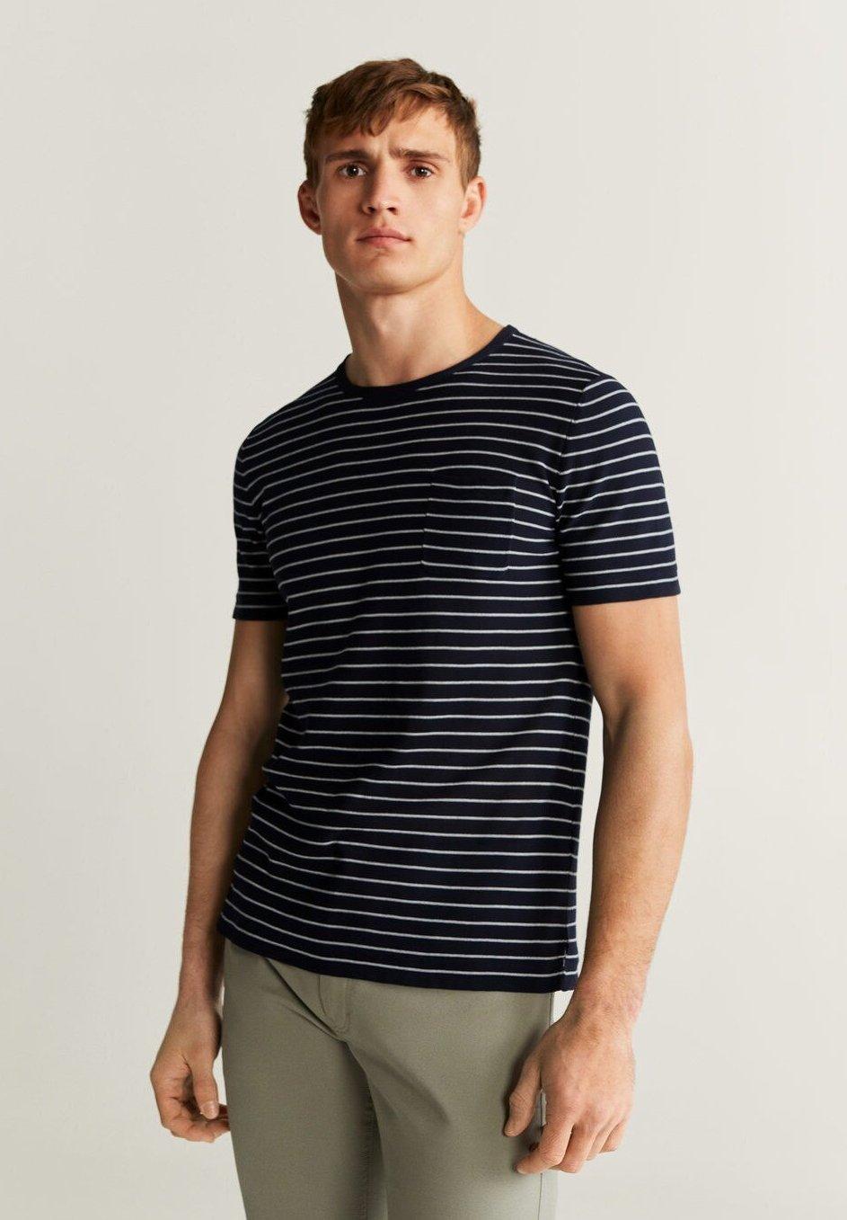 Mango ALFIE-I - T-shirt z nadrukiem - marineblau