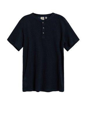 Basic T-shirt - dunkles marineblau
