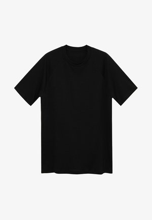 MERINO - Basic T-shirt - schwarz