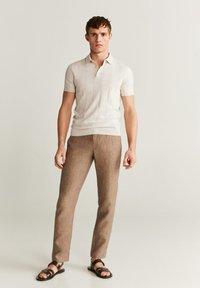 Mango - LATER - Polo shirt - beige - 1