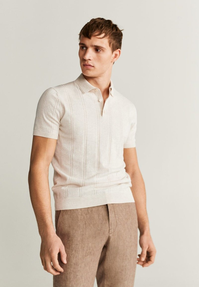 Mango - LATER - Polo shirt - beige