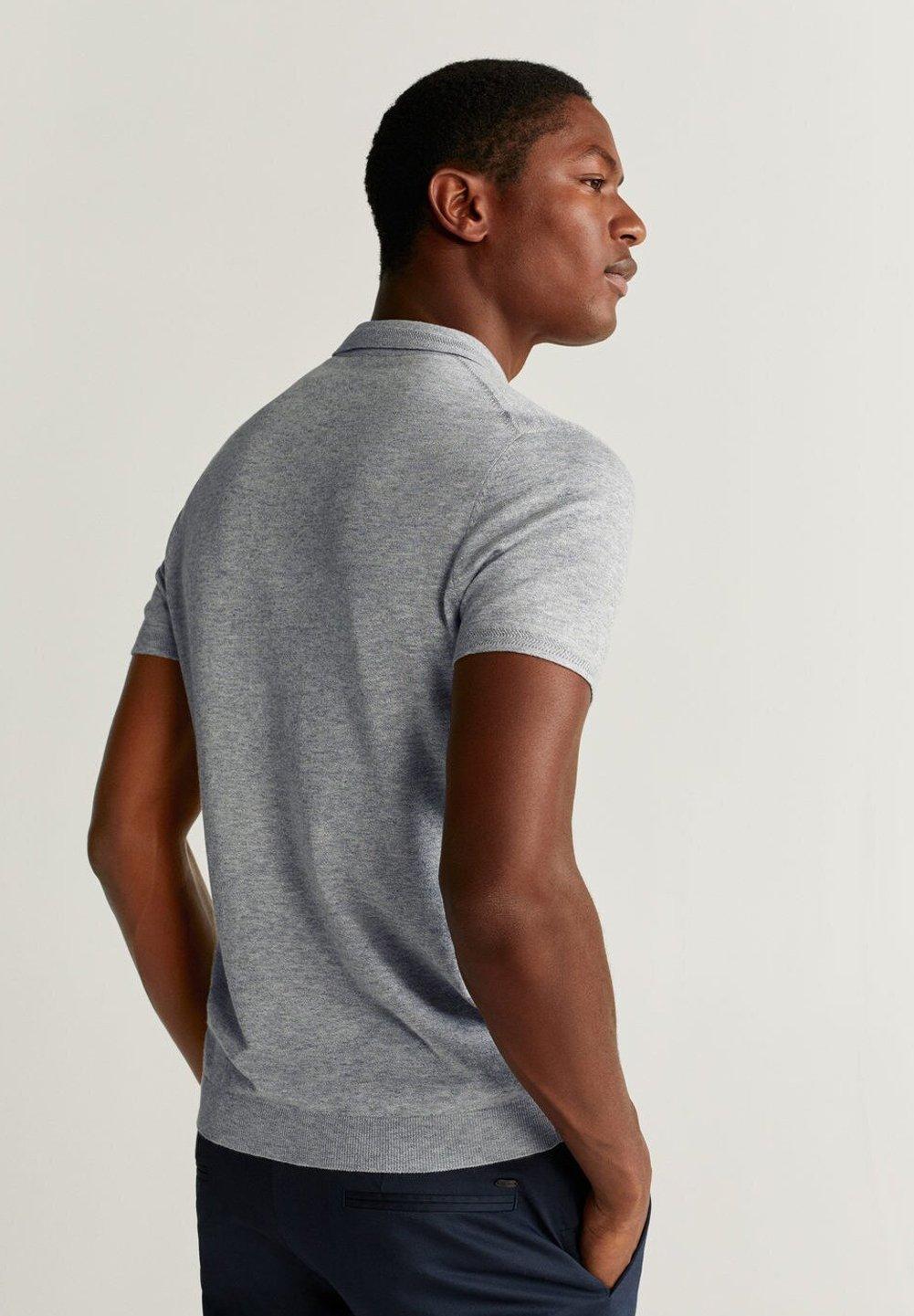 Mango ANDREW - Koszulka polo - grey