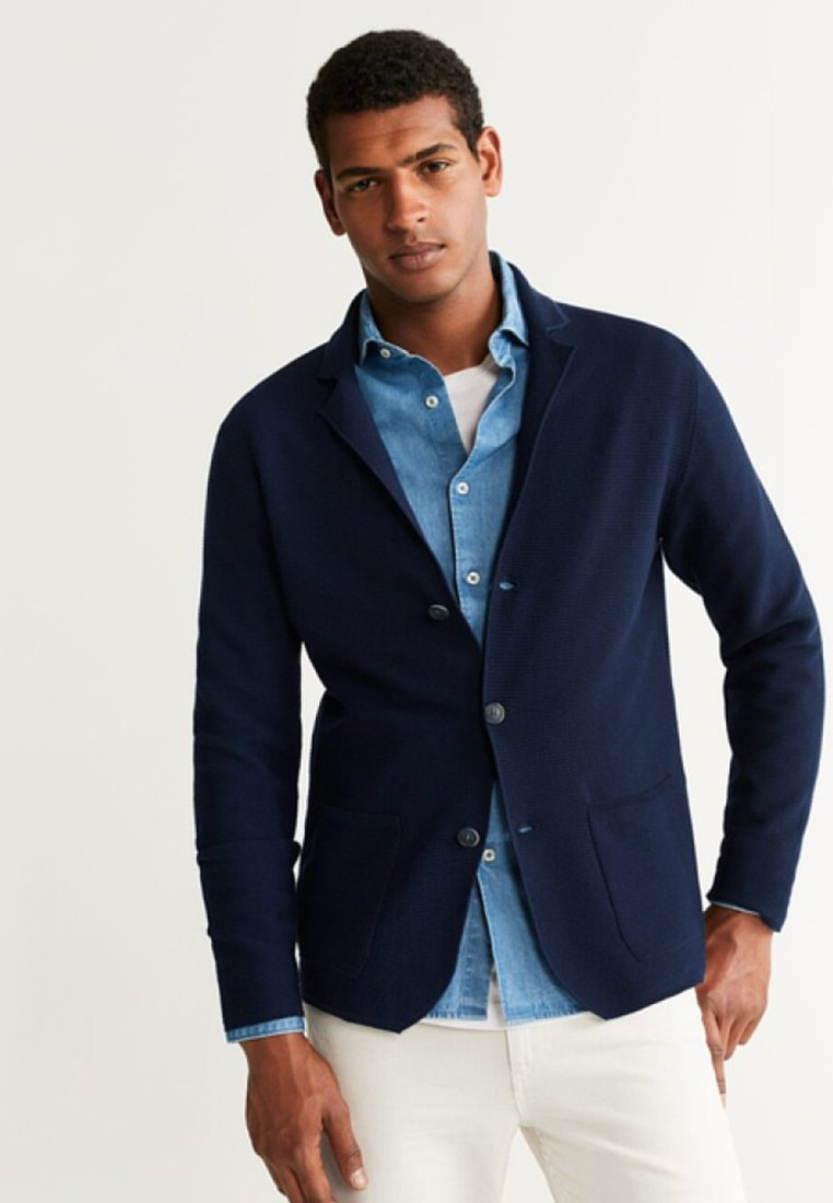Mango - PARLA - Cardigan - dark navy blue