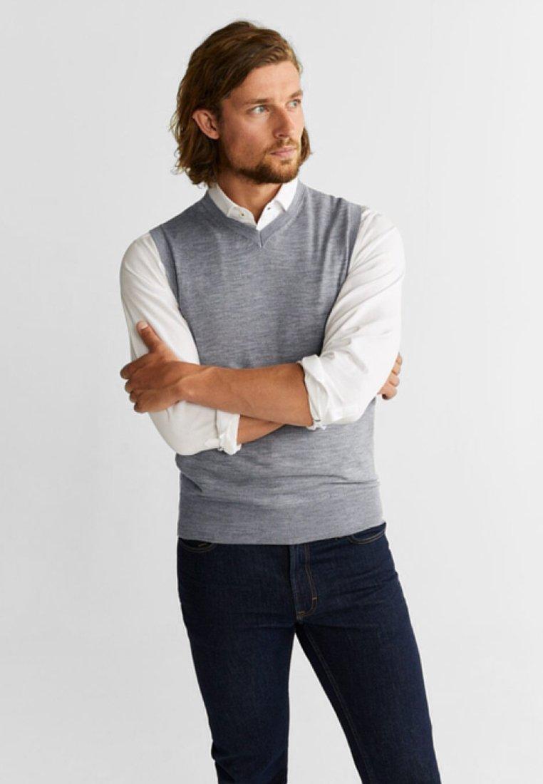 Mango - WILLYV - Vest - mottled grey