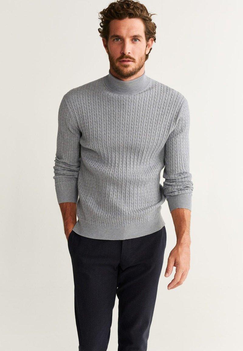 Mango - PIZARRA - Stickad tröja - mottled grey