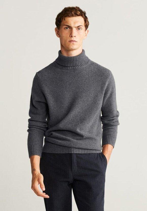 Mango - DOLCE - Sweter - mottled medium grey