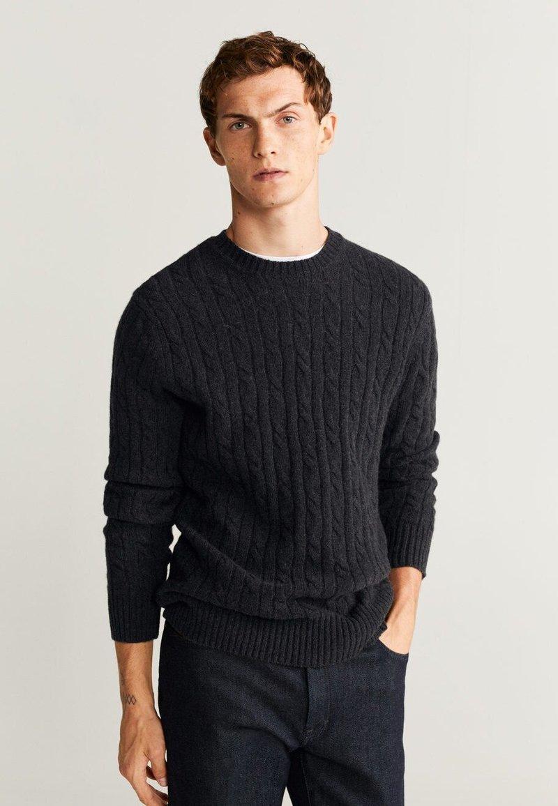 Mango - SUAVE - Sweter - dark grey