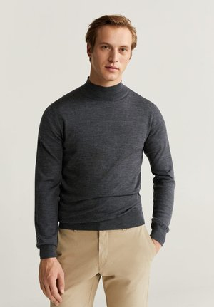 WILLYM - Stickad tröja - mottled dark grey