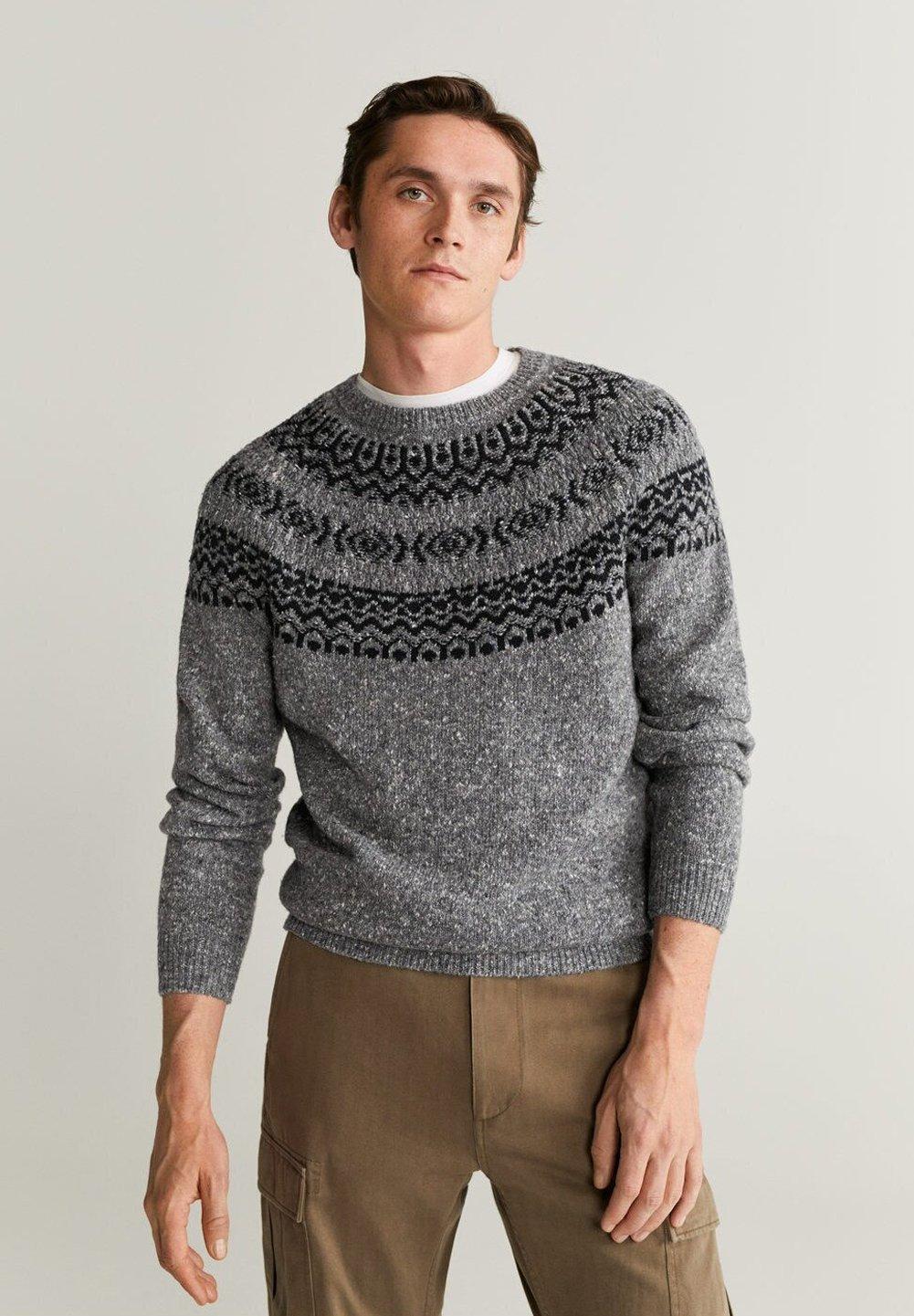 Mango BANDA - Sweter - gray