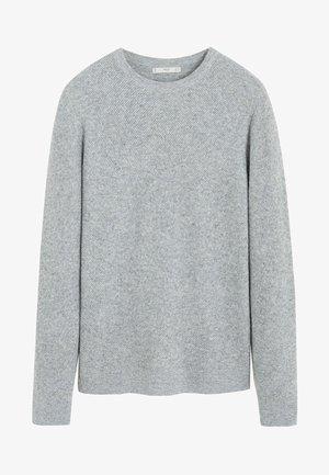 GASCON - Pullover - mottled light grey