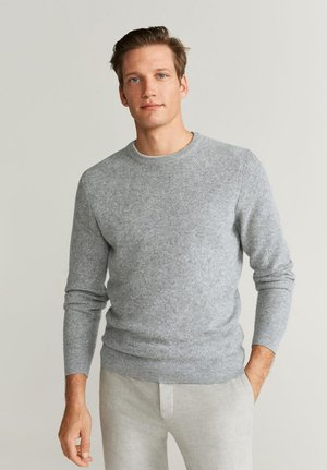 GASCON - Jumper - mottled light grey