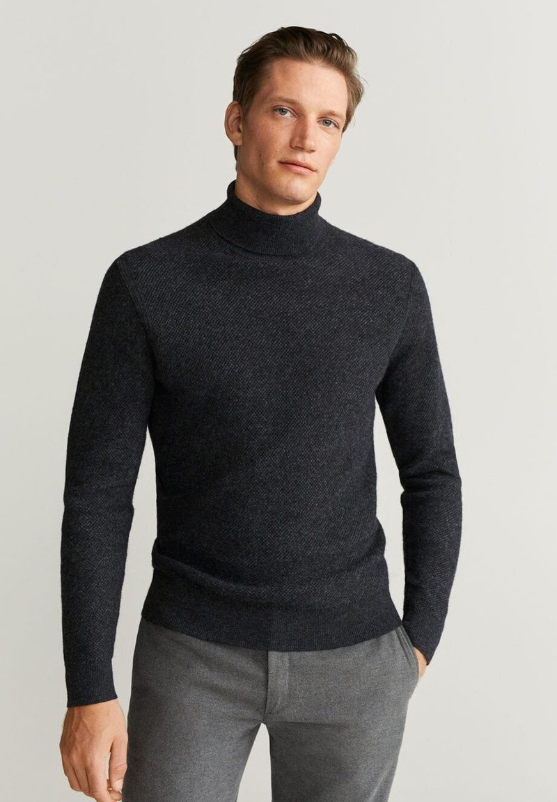 Mango - GASTON - Pullover - mottled dark gray