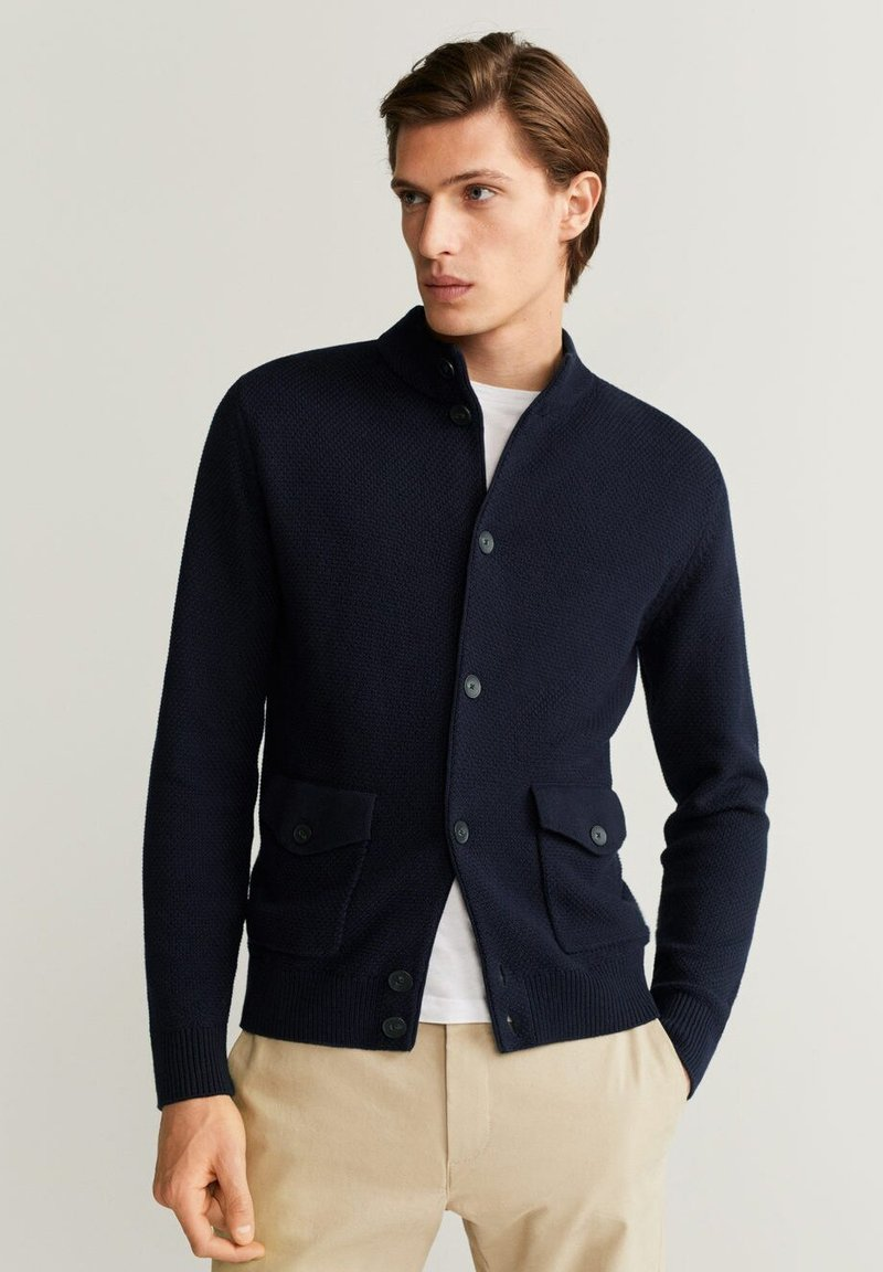 Mango - NEW - Cardigan - marineblau