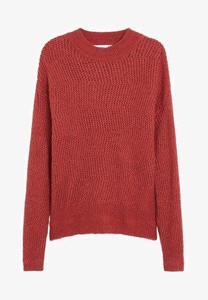 ZAG - Stickad tröja - rubinrot