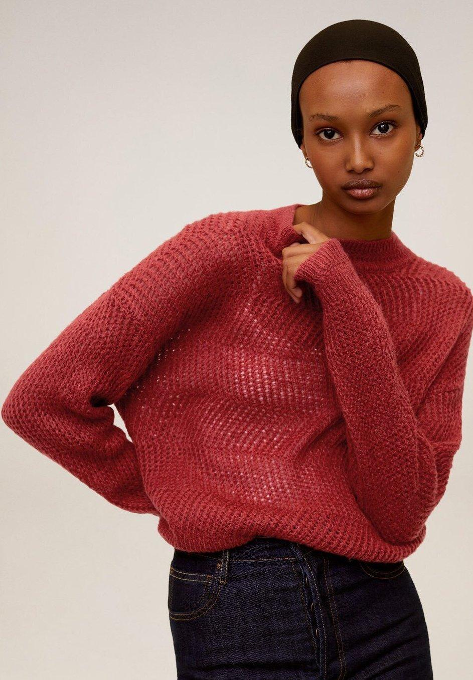 Mango ZAG - Sweter - rubinrot