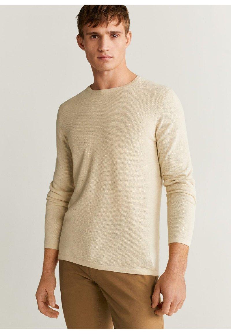 Mango - AVENA - Sweter - open beige