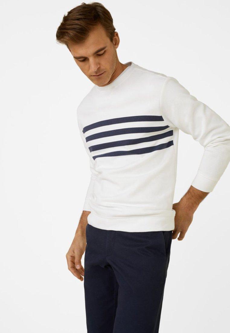 Mango - CLOVER - Sweatshirt - white