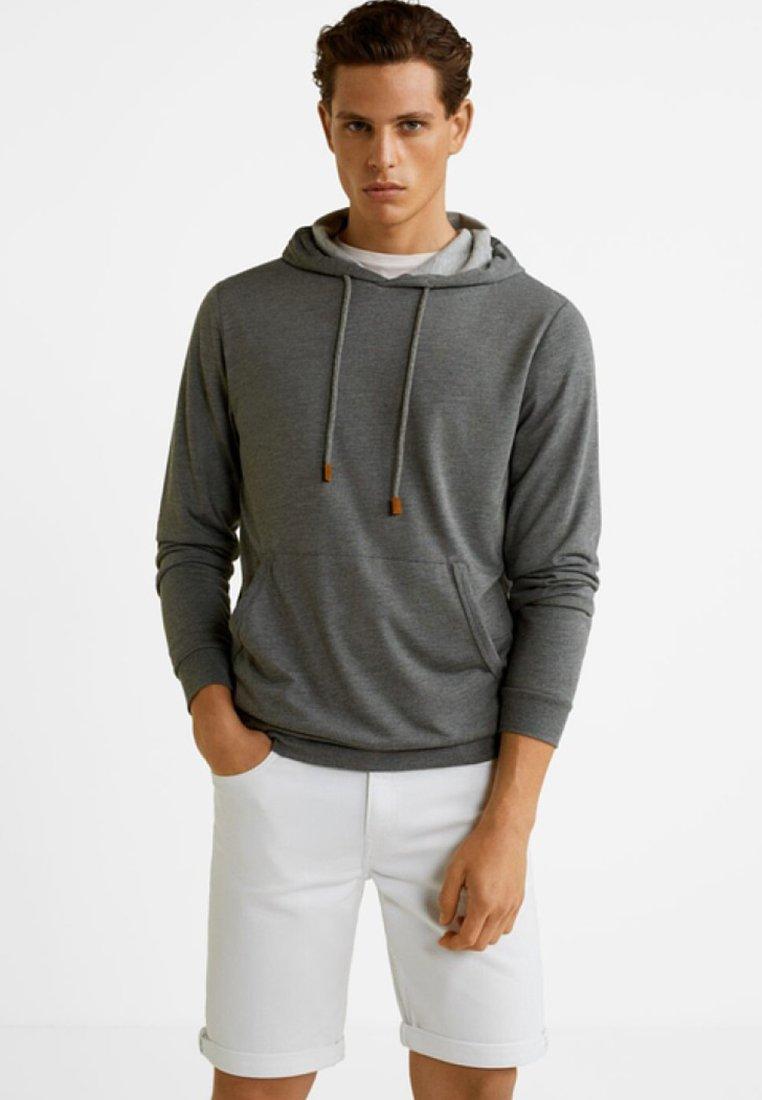 Mango - LEO - Jersey con capucha - grey