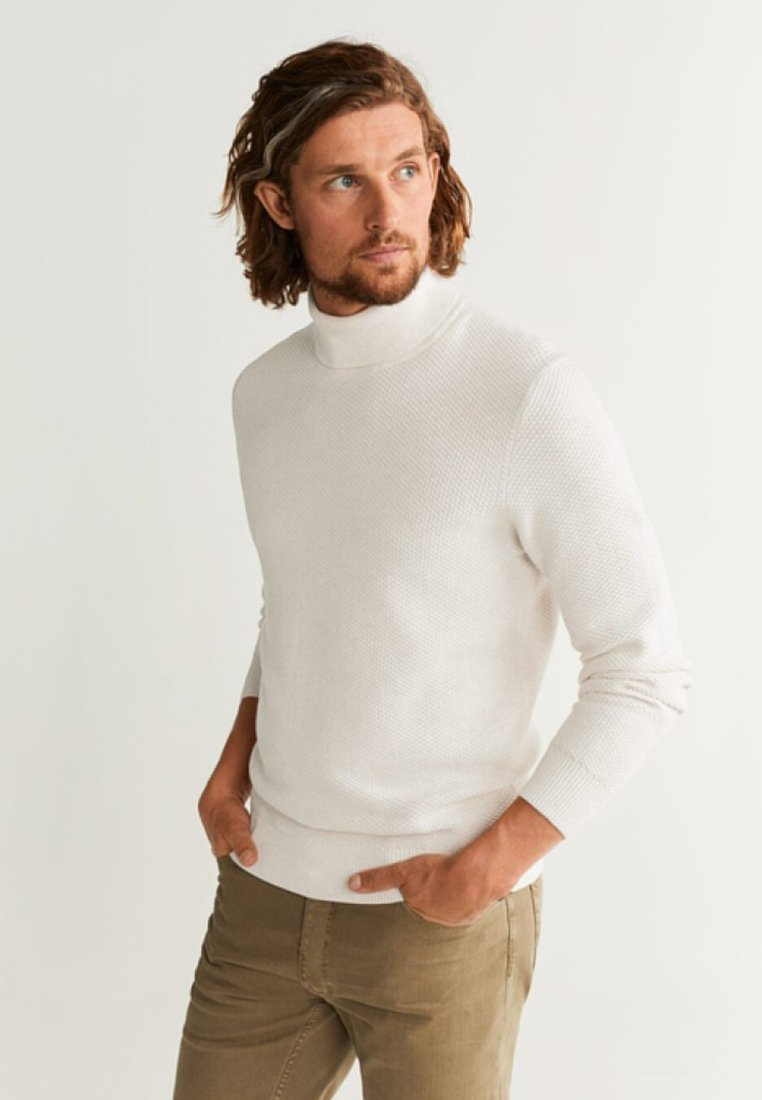 Mango - PIZARRO - Jumper - cream white