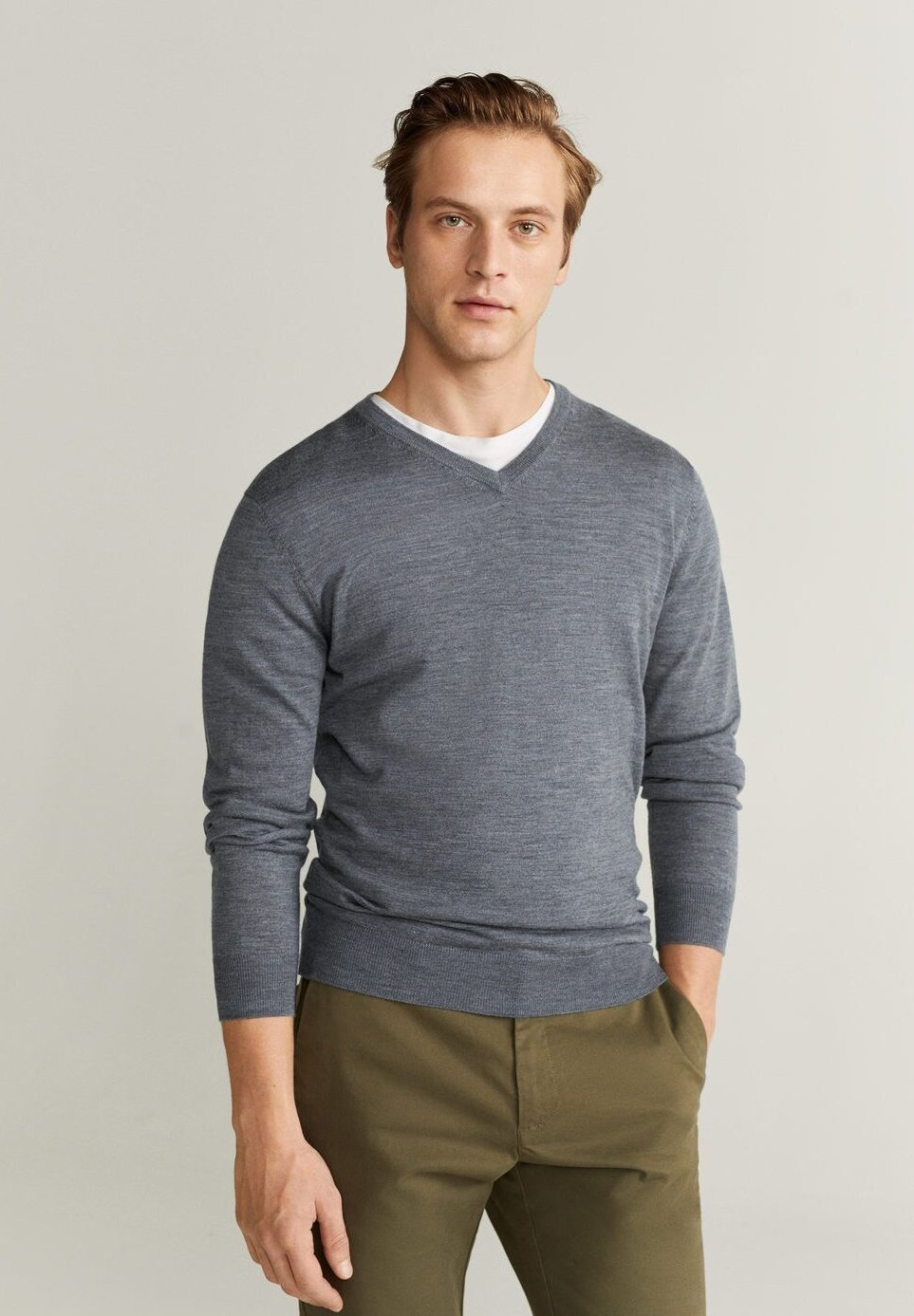 Mango WILLYV - Sweter - grey