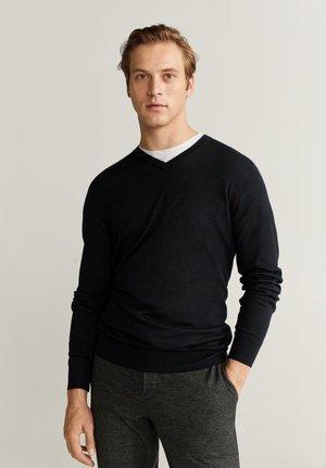 WILLYV - Stickad tröja - black