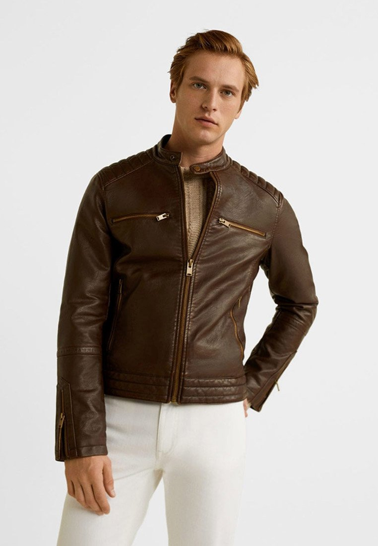 Mango - FER - Faux leather jacket - kognac
