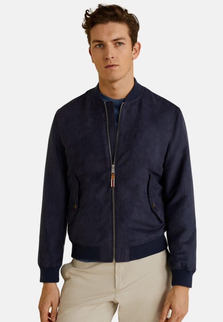Mango - VERONA - Faux leather jacket - indigo blue