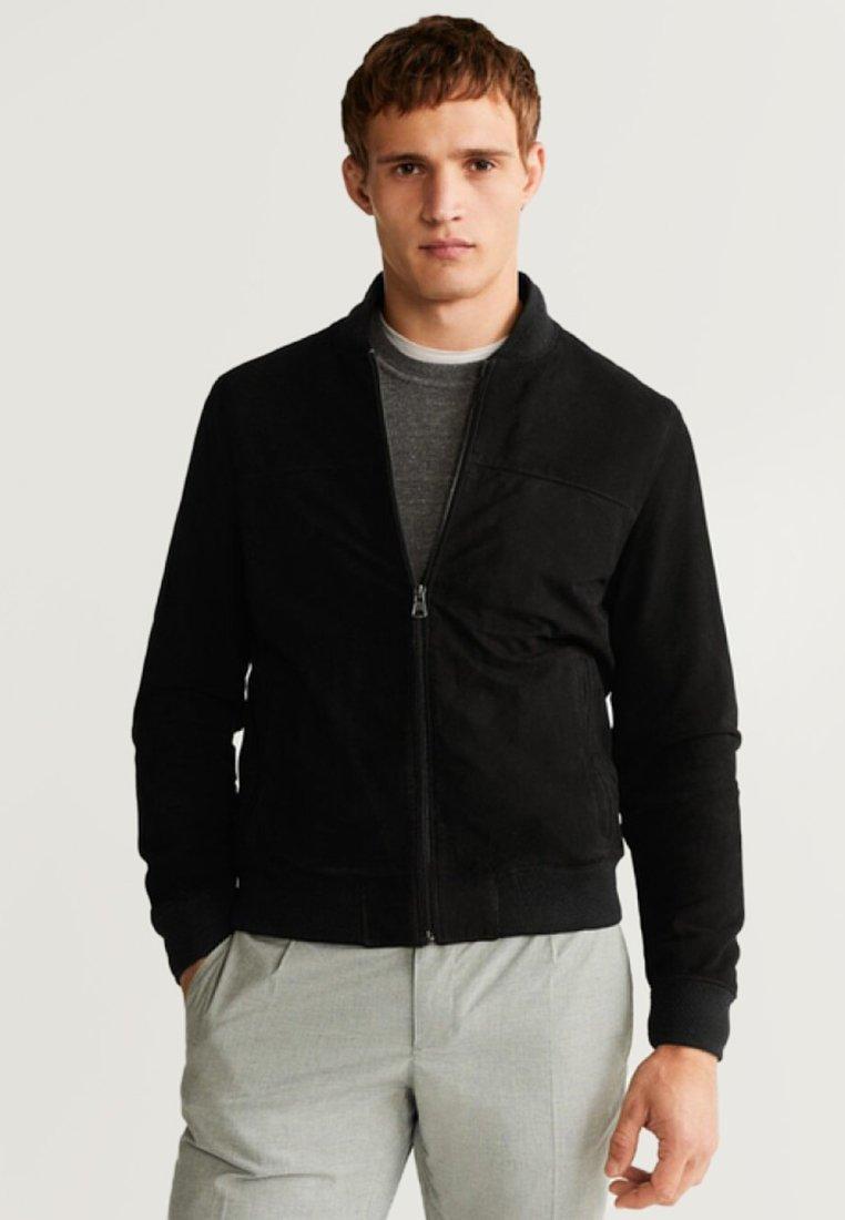 Mango - BOMBO - Leather jacket - black