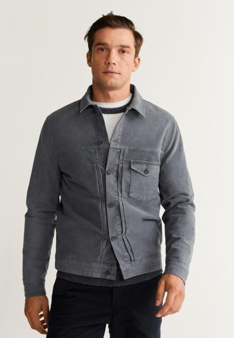 Mango - BRYAN - Denim jacket - grey