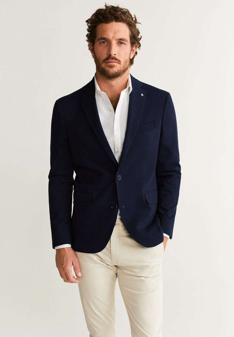 Mango - VERNER - Blazer jacket - dark navy blue