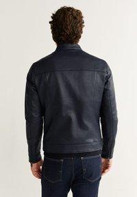 Mango - TACO - Faux leather jacket - dark navy blue - 2