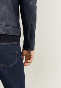 Mango - TACO - Faux leather jacket - dark navy blue - 4