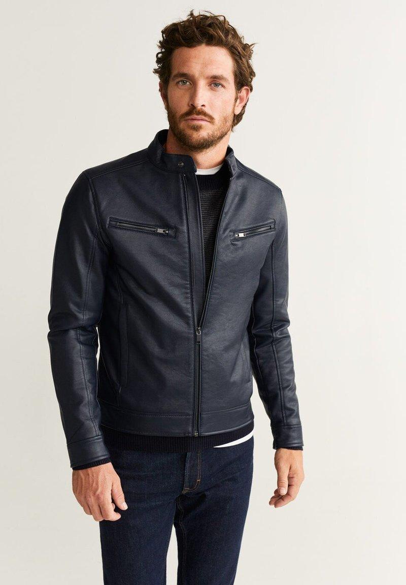 Mango - TACO - Faux leather jacket - dark navy blue