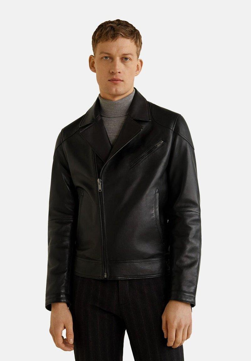 Mango - ROBYC - Leather jacket - black