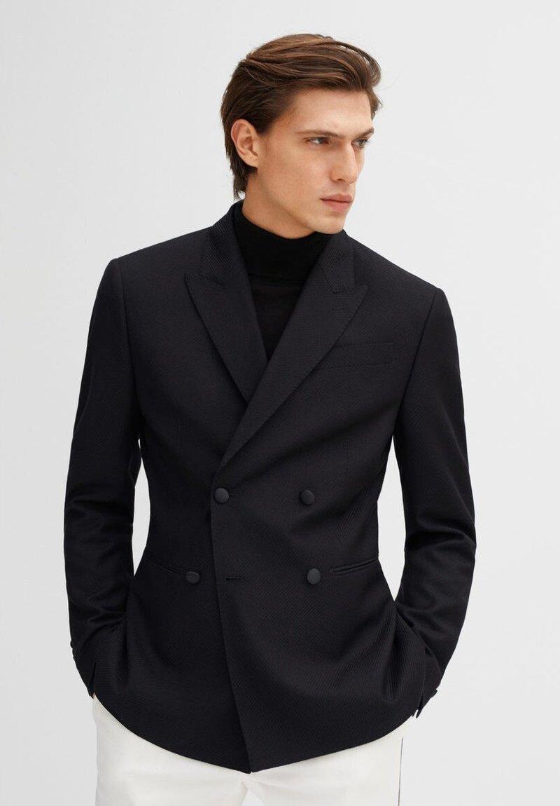 Mango - CRUZADA - Blazer jacket - black