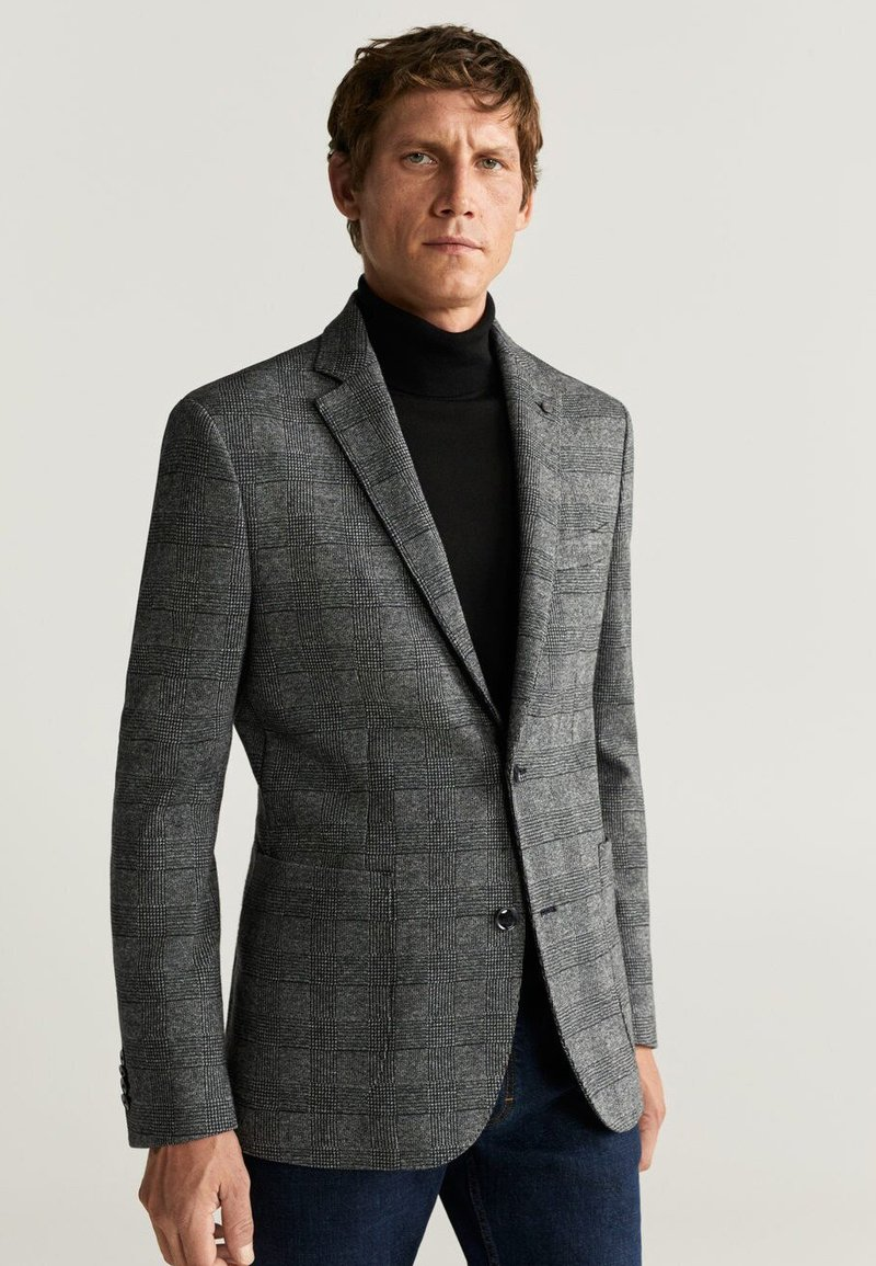 Mango - CUADRO - Blazer - grey