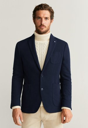 JERSEY - blazer - Dark navy blue