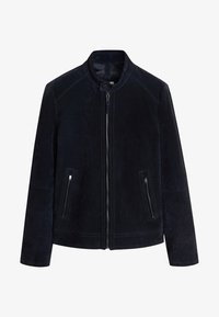 Mango - PALERMO - Leather jacket - navy blue - 5