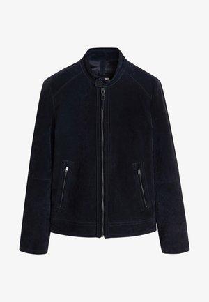 PALERMO - Leather jacket - navy blue