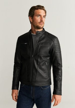 JOSENO - Faux leather jacket - black