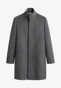 Mango - FUNNEL - Short coat - mottled medium grey - 4