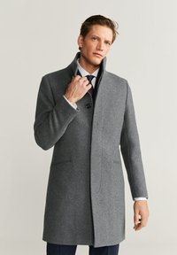 Mango - FUNNEL - Short coat - mottled medium grey - 0
