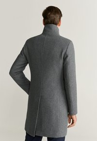 Mango - FUNNEL - Short coat - mottled medium grey - 2