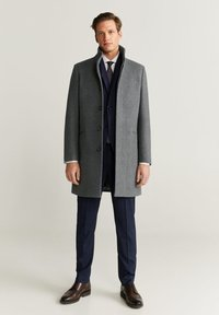 Mango - FUNNEL - Short coat - mottled medium grey - 1