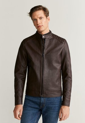 BRAKEW - Faux leather jacket - brown