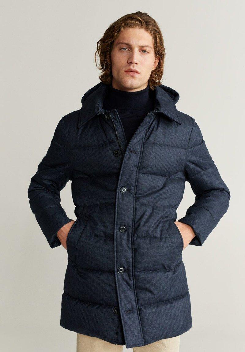 Mango - STREET - Winter coat - dark navy blue
