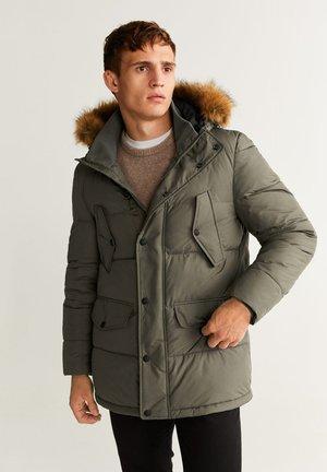 WASSERABWEISENDER ANORAK MIT ABNEHMBAREM KUNSTFELL - Winter jacket - khaki