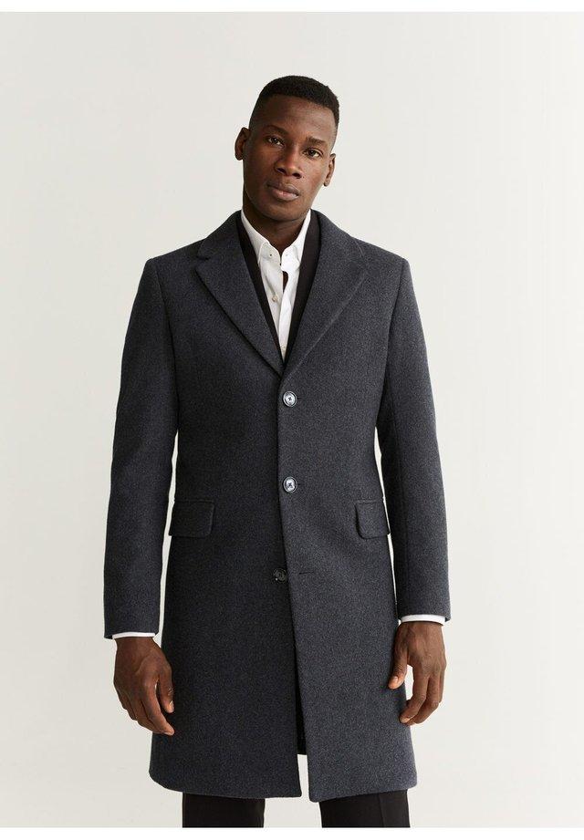 TAILORED-MANTEL AUS WOLL-MIX - Short coat - grau