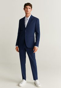 Mango - SLIM FIT ANZUGJACKE AUS WOLLSTOFF - Veste de costume - tintenblau - 1